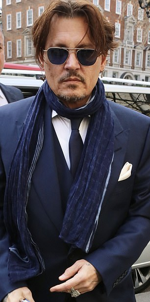 Legal fight: Johnny Depp in London this week