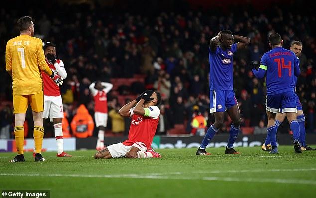 Aubameyang Arsenal Knocked Out of Europa League