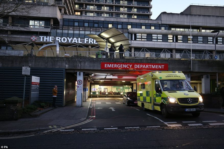 Both new cases in England who were infected in Iran were rushed to the Royal Free Hospital in London for urgent NHS treatment