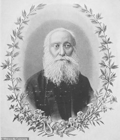 Portrait of Father Ghevont Alishan published in Alishan's 1901 book 'Hayabadoom' - which means 'Armenian history'.Ghevond Alishan, a famous poet, writer, Mekhitarist monk, and zealous archeology scholar, died in Venice in 1901 and was gifted the sword before his death