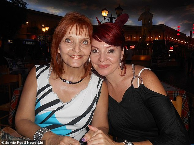 Ms Kilian pictured with her daughter Marika. Happy footage shows the mother enjoying her time in South Africa moments before her death