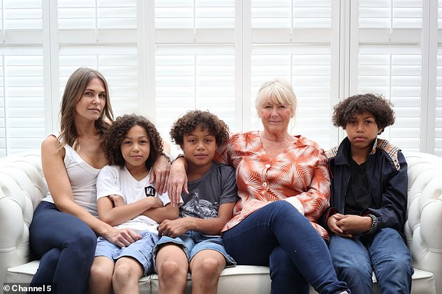 In Rich Holiday, Poor Holiday, which airs on Sunday, 'Lady' Jude Cissé, takes her three children Cassius, Prince, and Marley to a holiday in Devon as they try to survive on a tight budget without their usual fanfare of staff and services. Pictured: The family with Jude's mother Christine