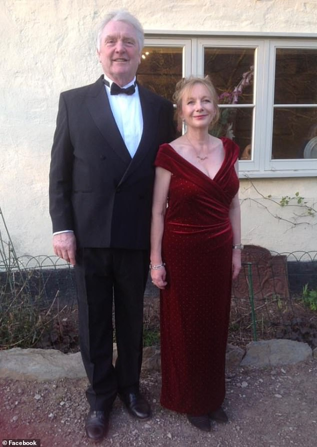 Debbie Zurick (above, with her husband John) was found with gunshot wounds at her marital home on the Somerset estate where Boris Johnson grew up after John discovered she had a new boyfriend