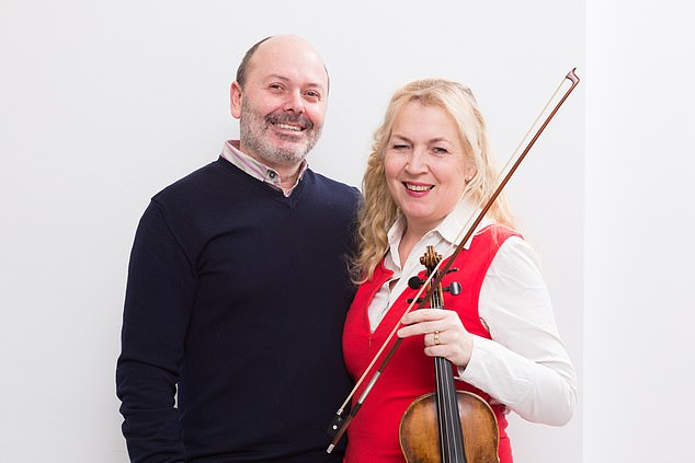 Dagmar (pictured with her husband) put on a brave face, hiding the effects of the radiotherapy ¿ which caused crushing fatigue ¿ from her son Felix and continuing to play the violin
