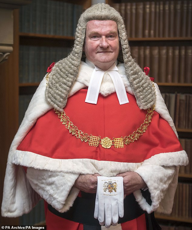 Lord Burnett (pictured), who as Lord Chief Justice is in charge of the judiciary in England and Wales, saidgender-neutral toilets should not cause controversy because they have always been used in France