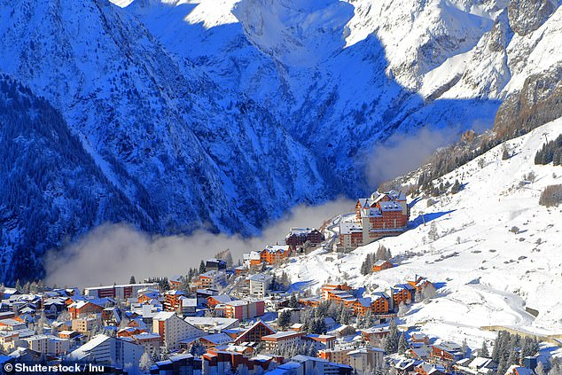 Topping out at 3,600 metres, Les Deux Alpes, pictured, is the highest resort in France