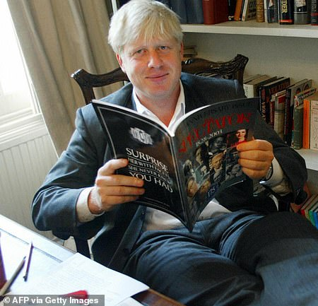 Mr Johnson in the Spectator offices under his editorship