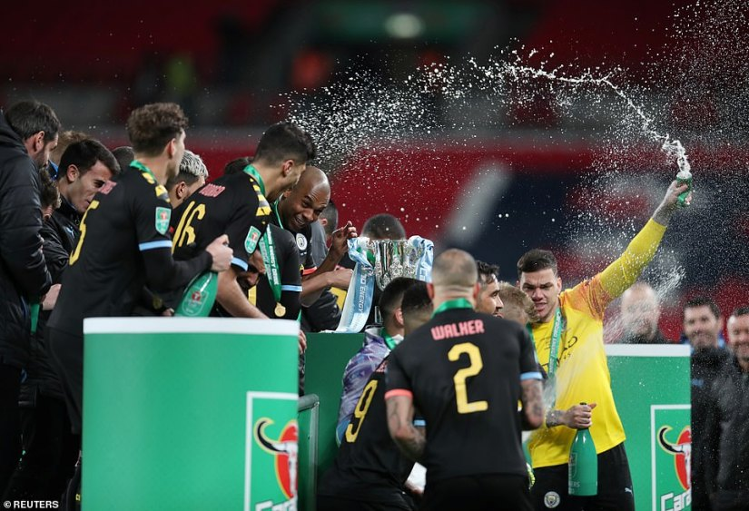 There were scenes of jubilation on the Wembley turf and City are targeting more silverware this season
