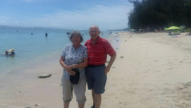 Rod Pascoe, 67, and his wife (pictured together) embarked on the seven week trip of a lifetime on January 20, leaving Fremantle in Western Australia for a round-trip to Singapore, Thailand, the Seychelles, Tanzania, Madagascar, South Africa and Reunion Island