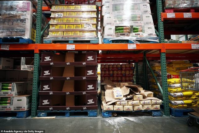 Over the weekend pictures of empty shelves at grocery stores in New York emerged. Panic purchasing has been seen of masks and other personal protective gear as well as food items