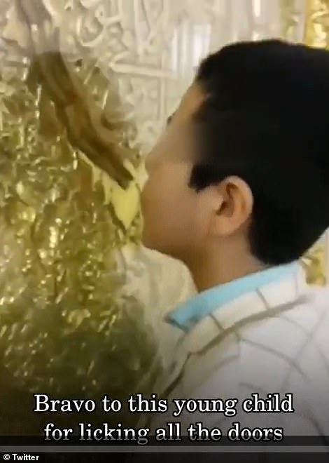A child is even hailed for licking the doors