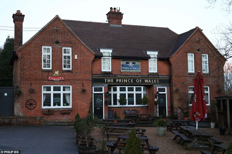 The Prince of Wales pub as a 'precautionary measure' after a drinker tested positive