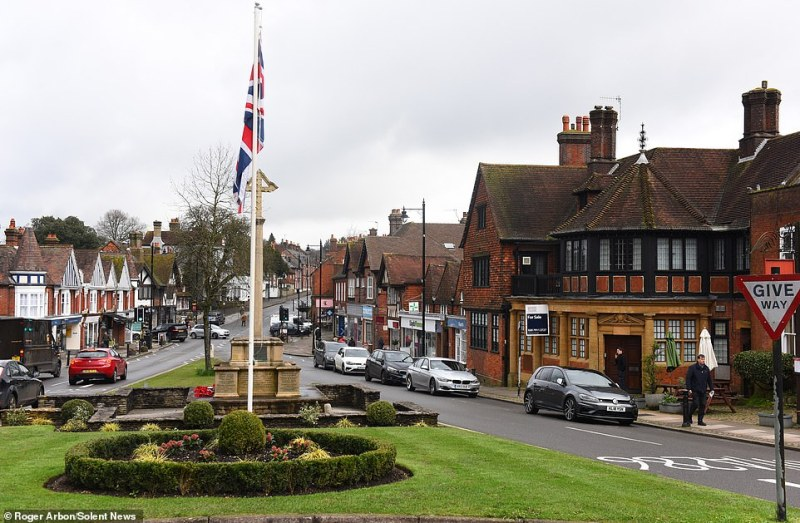 Haslemere (pictured today) is a quintessentially English commuter town - so much so it was chosenas the setting for a BBC documentary titled 'Contagion!' looking at how a flu outbreak might spread across Britain. The project suggested 48million