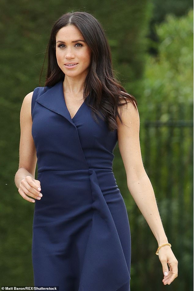 The Duchess of Sussex (seen in Australia last October) is said to feeling 'some trepidation' about her imminent return to the UK to join Prince Harry on their final engagements this week