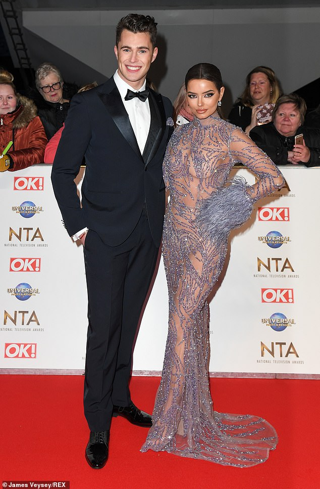 Final appearance:The Dancing On Ice star and the Greatest Dancer receptionist hadn't been pictured together since hosting the NTAs' backstage interviews on January 28 (pictured)