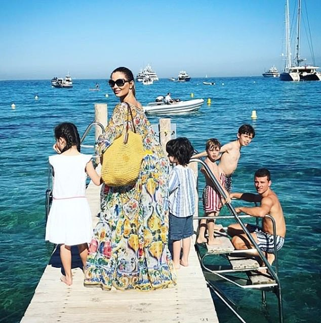Fresh start: Georgina on holiday in St Tropez.She met Weinstein at a party in 2004, and had a tiny role in 2006's Factory Girl, produced by Miramax, the company he co-founded. Weinstein split from first wife Eve in 2004 — she had been his assistant. They have three daughters, the youngest of whom was only two at the time of the divorce