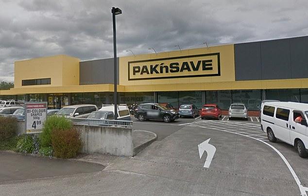 The Kiwi donned a coronavirus kit when they visited the Pak'nSave Wanganui supermarket