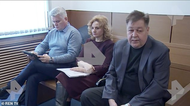 Semochkina's mother, DrOlga Semochkina (centre), told how she went to the apartment along with fatherStanislav (right) after she failed to answer her phone and found her body