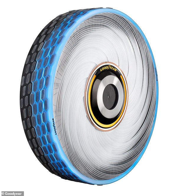 It is unknown if the tyre will ever be put into production but it was set to be revealed at the Geneva Motor show this week. But the major event was cancelled amid growing fears of the coronavirus outbreak that has infected around 91,00 people worldwide