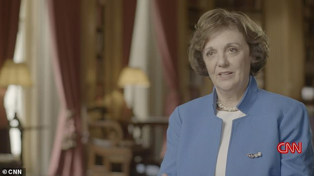 American author and historian Sally Bedell Smith, pictured in the documentary, explains that Diana found herself competing with Camilla, even on that most 'magical' of days