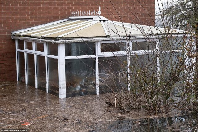 Floodwater has deliged properties in the village of Snaith in East Yorkshire today