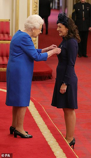 in November she made Marnie Gaffney from Kingston-Upon-Thames is Member of the Royal Victorian Order with her hands uncovered