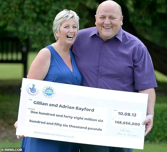 Bayford shared a record-breaking EuroMillions win of over £148 million with her former husband Adrian in August 2012 (pictured)