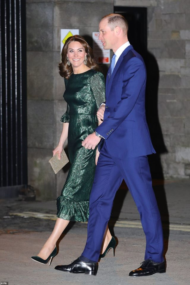 Prince William and Kate Middleton arrive at the the Guinness Storehouse in Ireland this evening