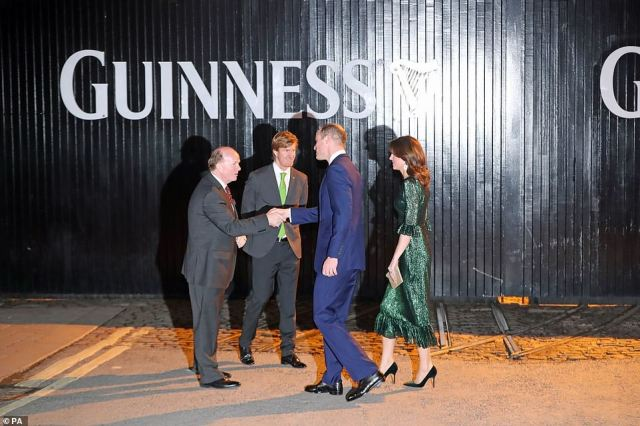 The Duke and Duchess of Cambridge at a reception hosted by the British Ambassador to Ireland at the Gravity Bar, Guinness Storehouse, Dublin, during their three day visit to the Republic of Ireland