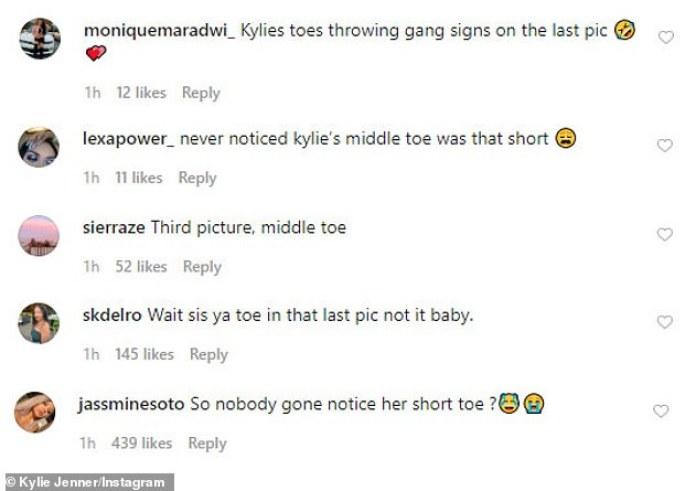 ¡No me impresionó!  Kylie filmó la explicación de su dedo del pie después de notar las reacciones de sus fanáticos ante sus dedos