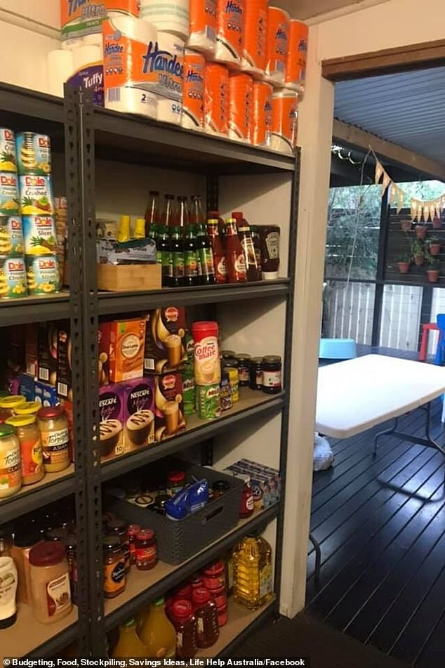 One mother, Leanne McLennan, shared images to Facebook of her stockpile that she has been building for five years