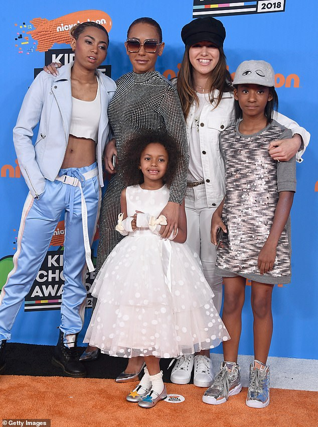 Family: Besides Madison, Mel B is a mother to daughters Phoenix, 21, whose father is her first husband Jimmy Gulzar, and Angel, 12, whose father is Hollywood star Eddie Murphy (pictured with Stephen's daughter Giselle Belafonte in 2018)