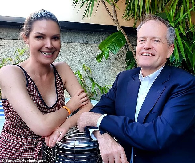 The mayor ofMaribyrnong in Melbourne's inner-west is pictured with former Labor leader Bill Shorten
