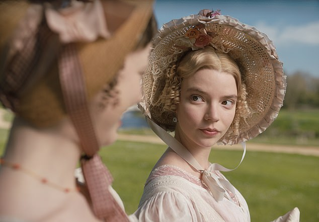 Determined to play cupid as Emma in the new big-screen adaptation of Jane Austen's novel (top), Anya Taylor-Joy has found her own match in real life