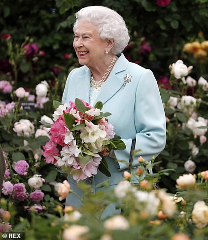 The Queen pictured at a previous Chelsea Flower Show, which could be scrapped this year