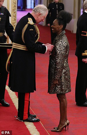 Baroness Benjamin is appointed Queen Commander of the British Empire by the Prince of Wales
