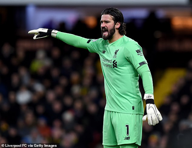 Liverpool's first-choice goalkeeper, Alisson, has lost several games with a hip injury