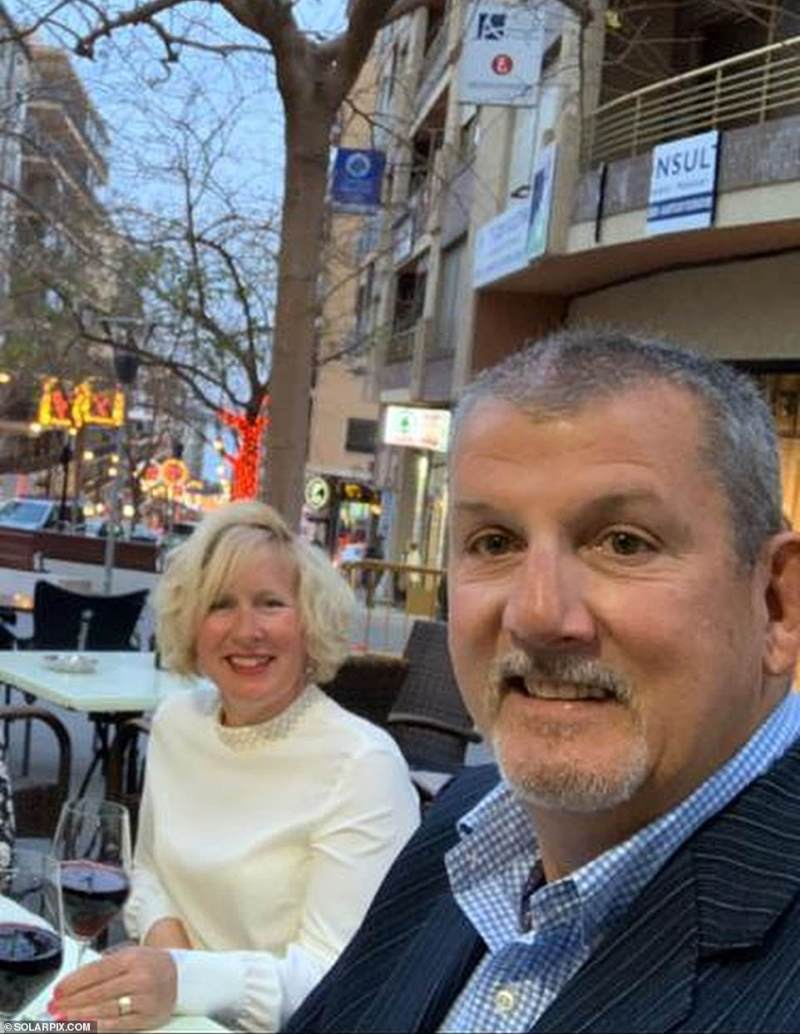 Company boss Robin, who runs a training school for knife sharpeners, said:'The way the situation's changed so quickly in Spain has been surreal'