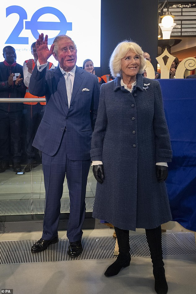 Earlier this month, the Prince of Wales and the Duchess of Cornwall still greeted people with a traditional handshake during a tour of the London Transport Museum to mark the 20th anniversary of Transport for London