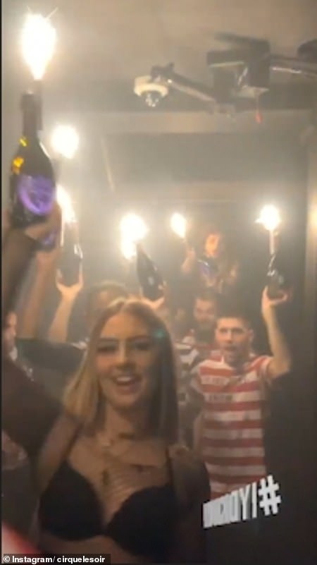 People were not worried about coronavirus at Cirque Le Soir in Soho last night