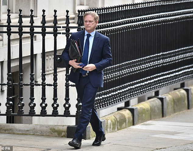 Transport Secretary Grant Shapps at Downing Street in Londontoday for a Cabinet meeting