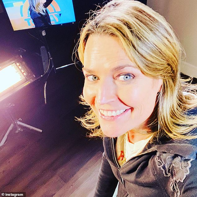 Something different: The 48-year-old shared images of her at-home studio set-up on Tuesday evening, revealing to Today viewers that she would not be coming into the studio