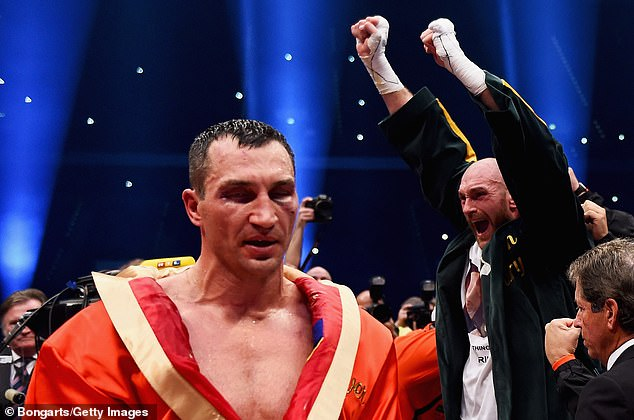 Fury's victory over Klitschko in 2015 (photo) has been cleared after a suspension from the UKAD