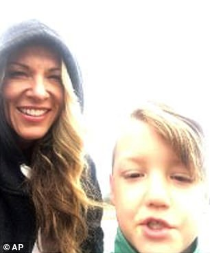Lori with JJ at Yellowstone on September 8