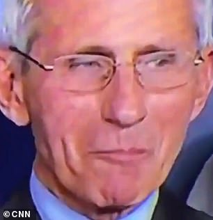 Dr Anthony Fauci was caught smirking at President Donald Trump during a coronavirus press conference on Friday, further fueling rumors of tension between the pair