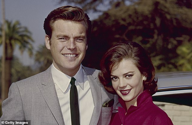 She had also realised a childhood dream of marrying the handsome star Robert Wagner and the pair (above) had become one of Hollywood's golden couples, holding court in a white Beverly Hills mansion lavishly converted to resemble an Ancient Greek palace. Then, waking one night in their opulent kingsize bed, Wood found Wagner missing