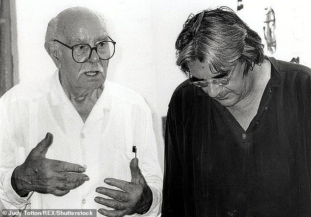 Renowned British artist Sir Terry Frost with fellow artist Peter Griffin in 1997