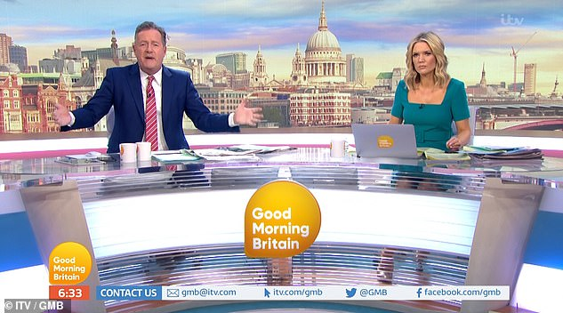 The GMB host hit out at the country's leadership, saying Boris Johnson has been sending 'mixed message after mixed message after mixed message'