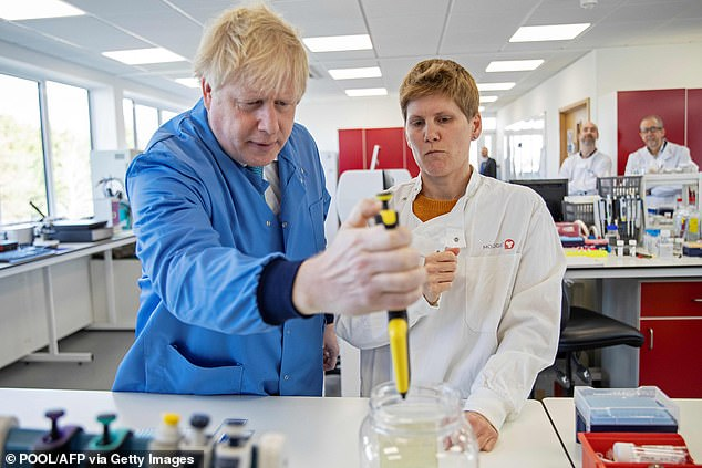 Prime Minister Boris Johnson was taken on a tour of the Bedford laboratory of Mologic earlier this month