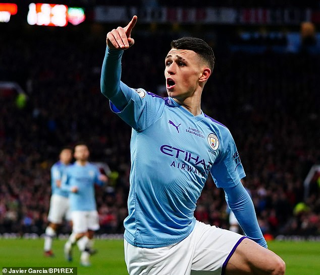 Manchester City midfielder Phil Foden was also on the list, having a value of £ 47 million